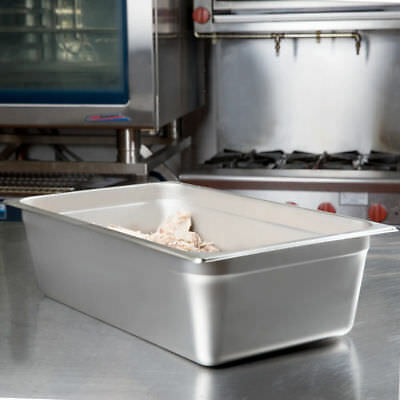 "Full Size 6"" Deep Stainless Steel Steam Prep Table Hotel Buffet Food Pan NSF"