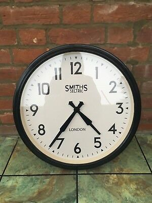 Stunning Smiths Sectric Clock Black Large Vintage reproduction