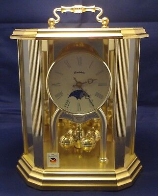 Vintage Schmeckenbecher Germany Hourly Chime Mantel Clock/Battery Operated