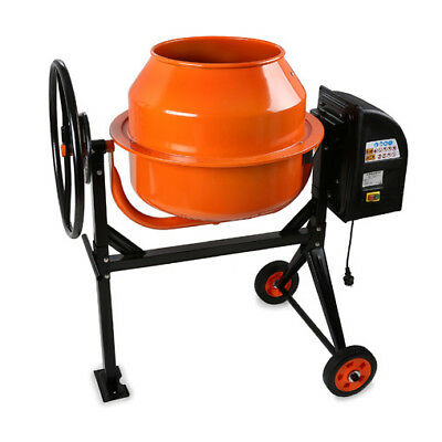 EBERTH 120L Electric Concrete Mixer Cement Plaster Mortar Machine Stand Wheels