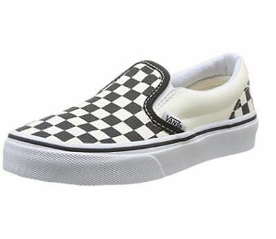 0b1a190c610c KIDS VANS OFF THE WALL Slip On Shoes (Checkerboard) Black White VN-