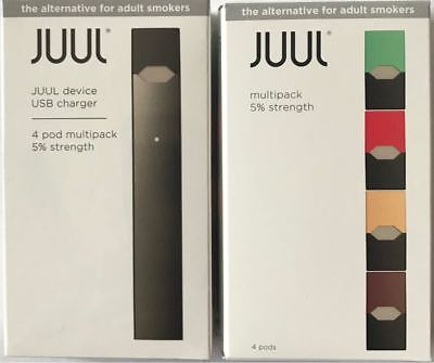 New Juul-Device + Charger - Starter Kit Includes 4 Flavor Pods! 100% Authentic