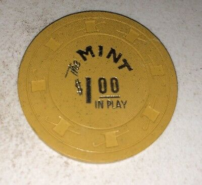 The Mint In Play $1 Casino Chip Las Vegas Nevada 2.99 Shipping