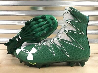 Under Armour Highlight MC Football Cleats Green White SZ ( 1269693-313 )