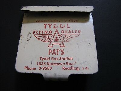 Vintage 1950's Tydol Flying A Car Window Coat Hook Pat's Gas Station Reading Pa.