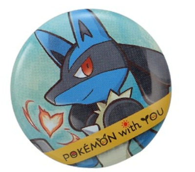 Pokemon Button Badges 2018 with YOU Lucario Japan New pocket monster Cute