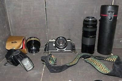 Pentax ME super & 3 extra lenses ESTATE LOT