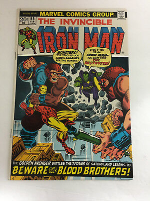 Iron Man 55 1st appearance of Thanos F-VF