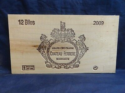 2009 Chateau Ferriere Margaux  Wood Wine Panel End