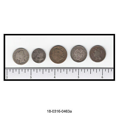 Lot of Five Lower Grade U.S. Coins