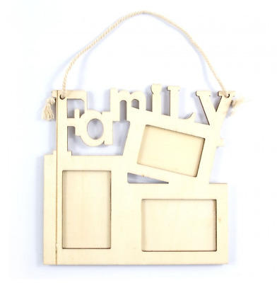 Family Frame - Hanging Picture Frame - Wood - Decorate Yourself - 16.5cm x 16cm