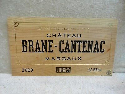 2009 Chateau Brane Cantenac Margaux Wood Wine Panel End
