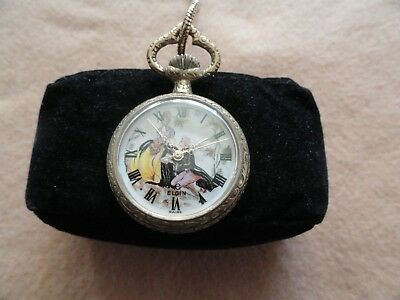 Swiss Made Elgin Vintage Mechanical Wind Up Necklace Pendant Watch