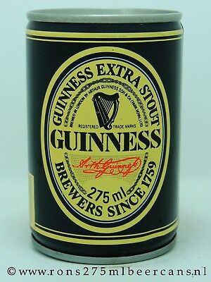 Guinness 275 ml 9-2/3 oz crimped steel beer can from UK #2
