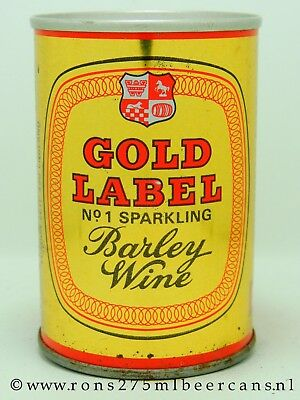 Gold Label 275 ml 9-2/3 oz straight steel beer can from UK