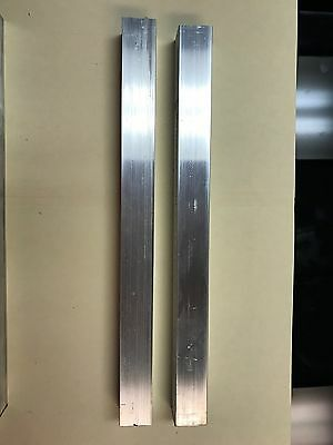 """2 Pieces Of 1""""X1"""" Aluminum 6061 T6511 Square Solid Bar 12"""" Long New Mill Stock"""