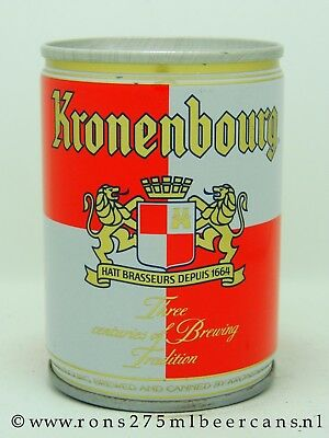 kronenbourg 25 cl crimped steel beer can from france