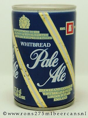 Whitbread Pale Ale 275 ML steel beer can from England