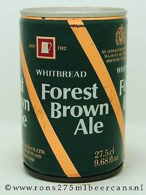 Whitbread Forest Brown Ale 275 ML steel beer can from England