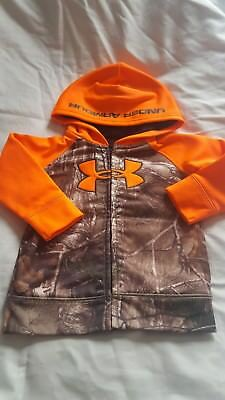 Under Armour Camoflage and Orange Hoodie Infant Boys 18 Months