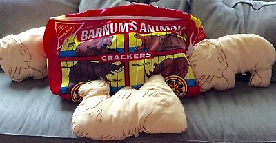 Vintage Nabisco Barnum's Animals Crackers Zippered Bag Circus 1972 Advertising