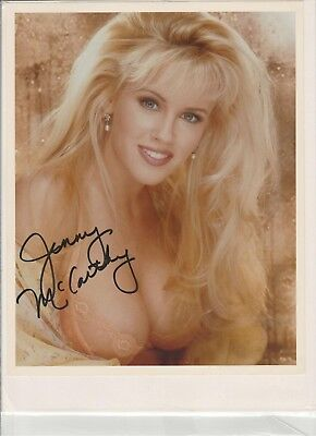 Jenny McCarthy Playboy Playmate Miss October 1993 signed color glossy PMOY 1994