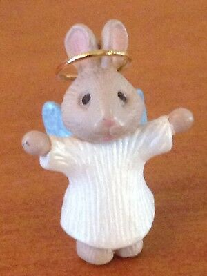 "1990 Hallmark Miniature Ornament ""NATURE'S ANGELS""  Bunny Angel #1 in Series"