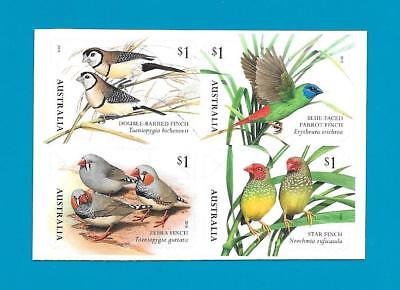 """2018 Australian { Finches Of Australia } """"s/a Block From Booklet"""" Mint Un Hinged"""