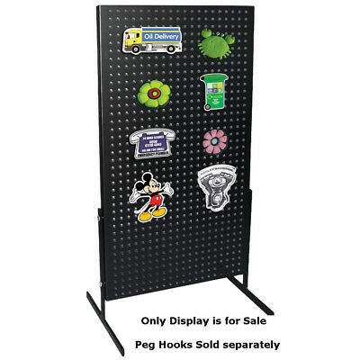Steel Powder coated Pegboard countertop Display for Magnets/Hanging Items