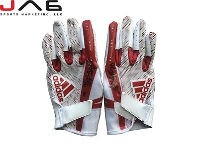 b4c1d7598 Adam Humphries autographed signed Game Used Gloves Tampa Bay Buccaneers LOA