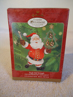 Hallmark 2000 Jingle Bell Kringle Keepsake Ornament QXC4481 Santa Ringing Tree