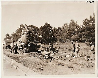SUPER Original Photo- Road Building Construction 1925 Omaha Nebraska NE Blacks
