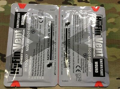Hyfin Chest Seal Twin Pack (North American Rescue) EXP 2021
