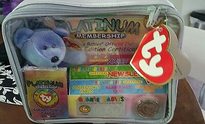 1999 Ty Beanie Babies Official Club Platinum Membership Kit Never Opened
