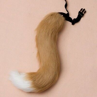 Faux Fur Tail Furry Wolf Dog Fox Puppy Costume Halloween Cosplay Props Fashion