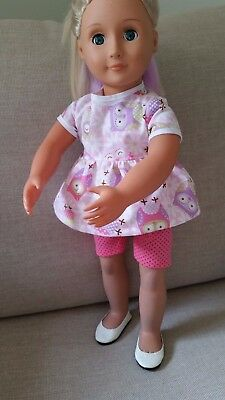 """American Girl Gotz Our Generation Journey 18""""  Doll's Clothes Top & Leggings"""