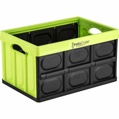 Genuine Instacrate Collapsible Crate Storage Solution 46 Litre,MADE IN USA GREEN
