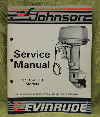 1987 Johnson Outboard Service Repair Manual 9.9 10 11 14 15 20 25 28 30 35 HP