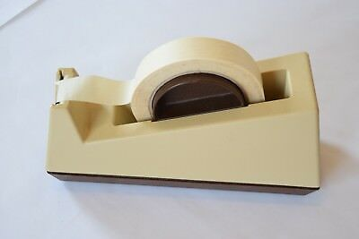 3M Large Weighted Scotch Tape Dispenser Brown/Tan C-25, Model:28000, USA Plastic