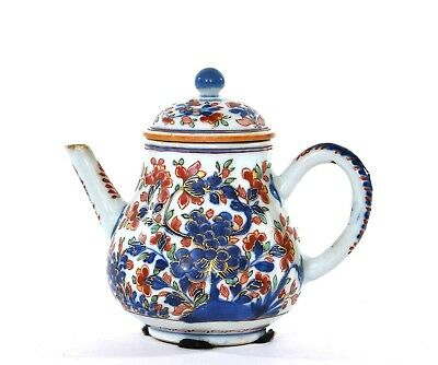 Late 17C or Early 18C Chinese Kangxi Export Imari Style Porcelain Tea Teapot Mk