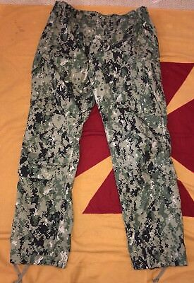 US Navy NWU Type III Navy Seal AOR2 COMBAT PANTS Trousers Large-Regular