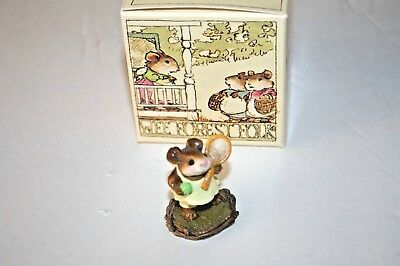 Wee Forest Folk M-13 TENNIS ANYONE WFF Mice Mouse figurine 1984