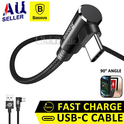 For Samsung Galaxy S10 S9 + Braided USB-C Type-C Fast Charging Sync Charge Cable