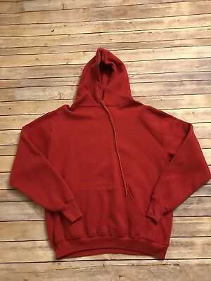 Vintage 70's Russell Athletic Red Hoodie - Large