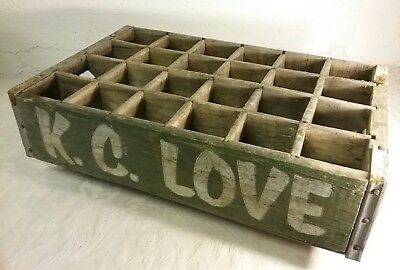Antique K.c. Love Wood Soda Cola Crate