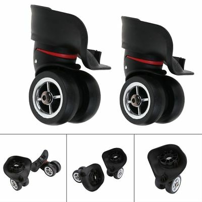 2x Replacement Luggage Suitcase Wheels Swivel  360° Universal Wheel For Bags US