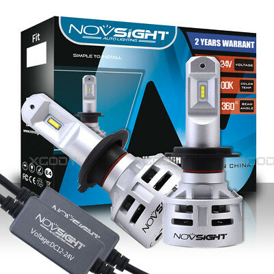 2x Novsight H7 10000LM 60W LED Headlight Conversion Kit Car Bulbs Xenon White