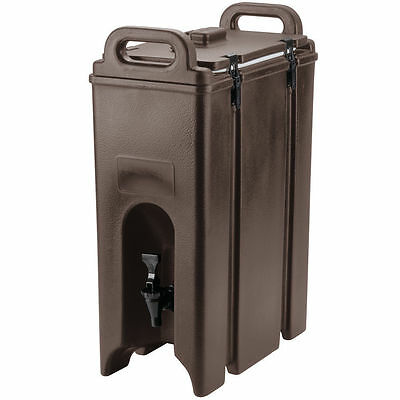 Cambro 500LCD131 Dark Brown 4.75 Gal Insulated Beverage Camtainer