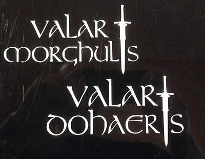 Game of Thrones  white Valar Morghulis Valar Dohaeris decal car sticker 5x6