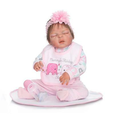 Reborn Dolls Girl Full Silicone Body Baby Anatomically Correct Cheap Toys 23inch